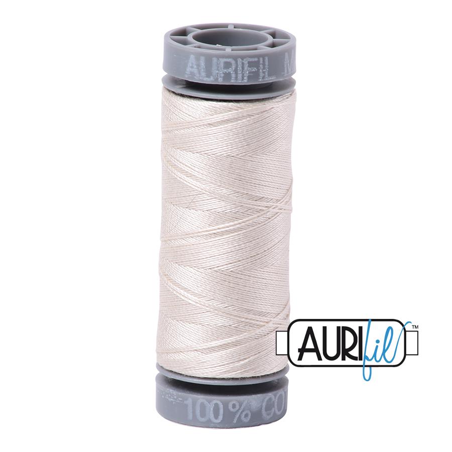 Aurifil 28wt Small Spool- Silver White