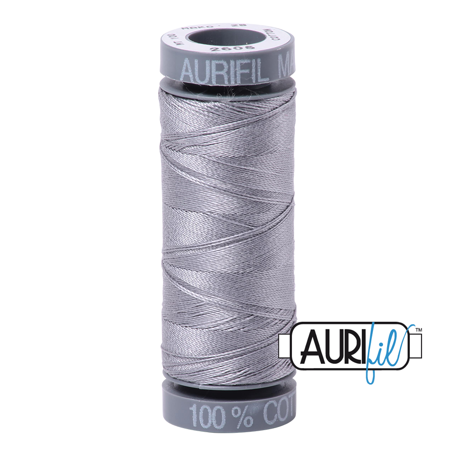 Aurifil 28wt Small Spool- Grey