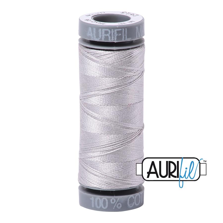 Aurifil 28wt Small Spool- Aluminum