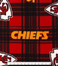 Chiefs Fleece Fabric 56