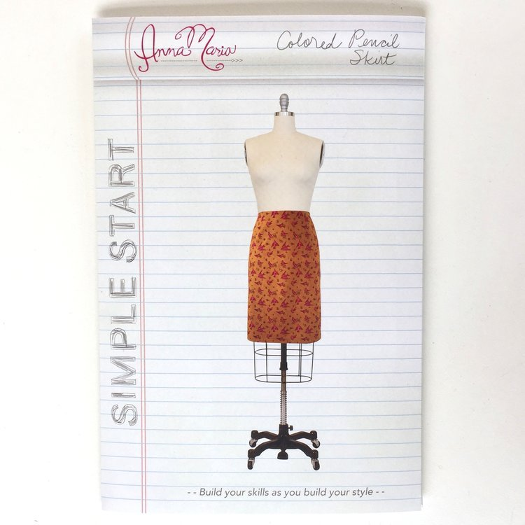 AMH Colored Pencil Skirt