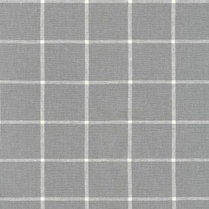 Essex Yarn Dyed Classic Woven Checks - Steel