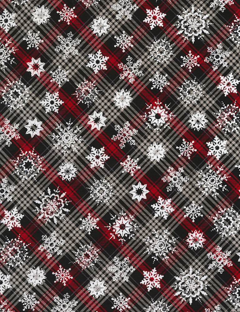 Holiday - Snowflakes on Plaid