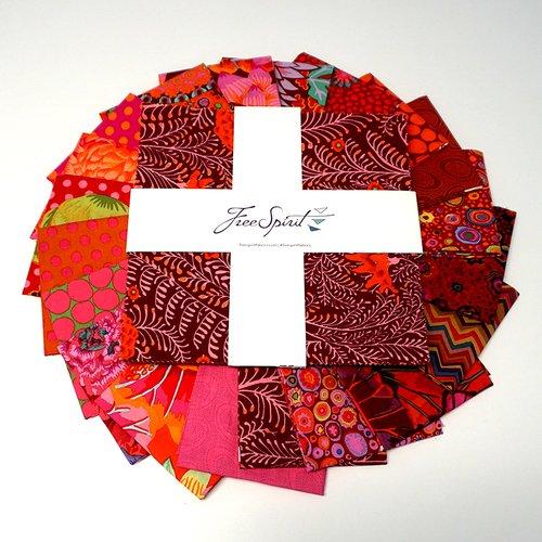 Kaffe Fassett Collective Classics 42 pc 10 Squares - Lipstick