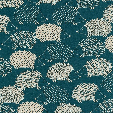 RK Cotton Flax Prints - Teal
