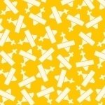 Aunt Grace - White & Yellow Yardage