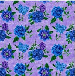 Spaced Floral Lt. Purple  - Luna Garden by Blank Quilting