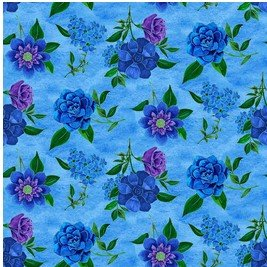 Spaced Floral Lt. Blue  - Luna Garden by Blank Quilting