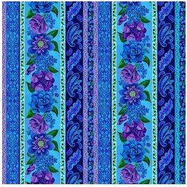 Stripe Lt. Blue   - Luna Garden by Blank Quilting