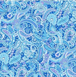 Paisley on Lt. Blue  - Luna Garden by Blank Quilting