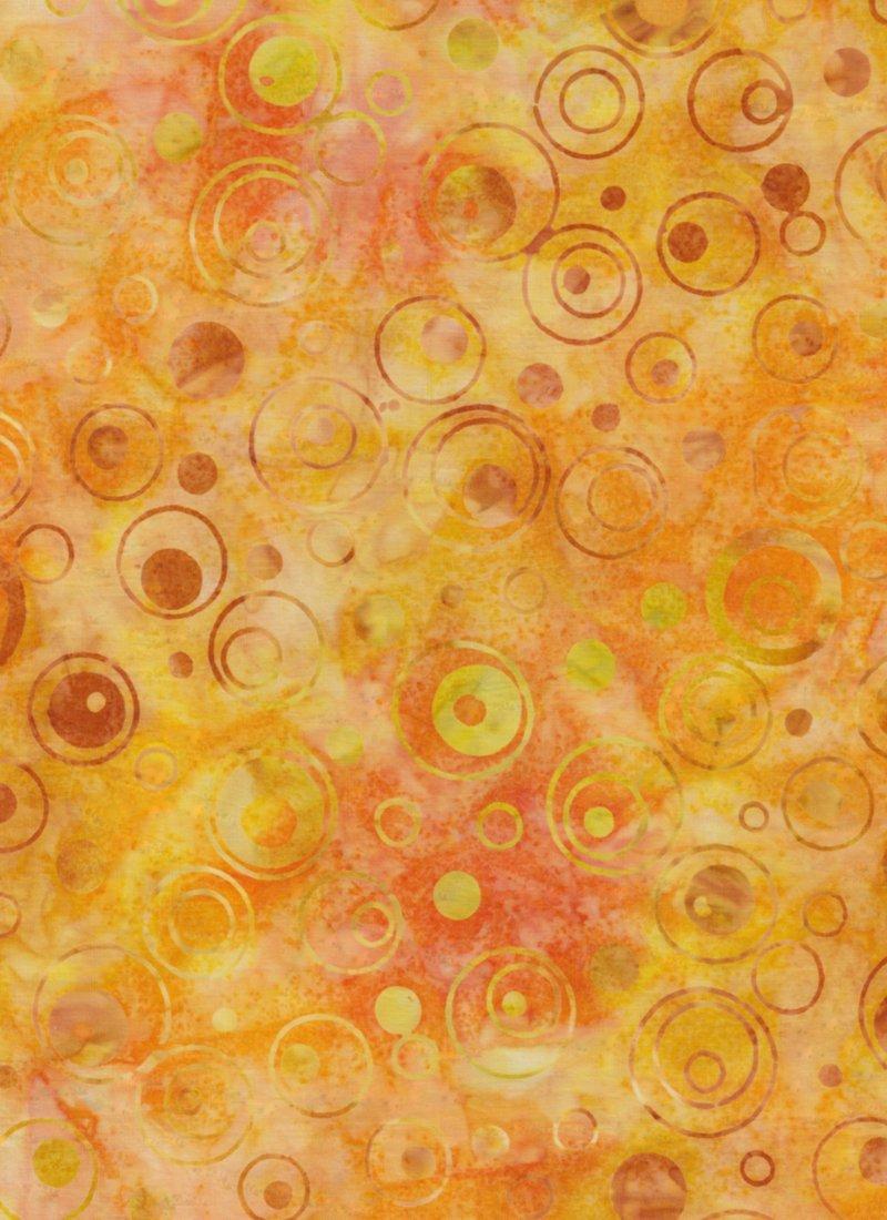 Yellow/Gold Circles Batik