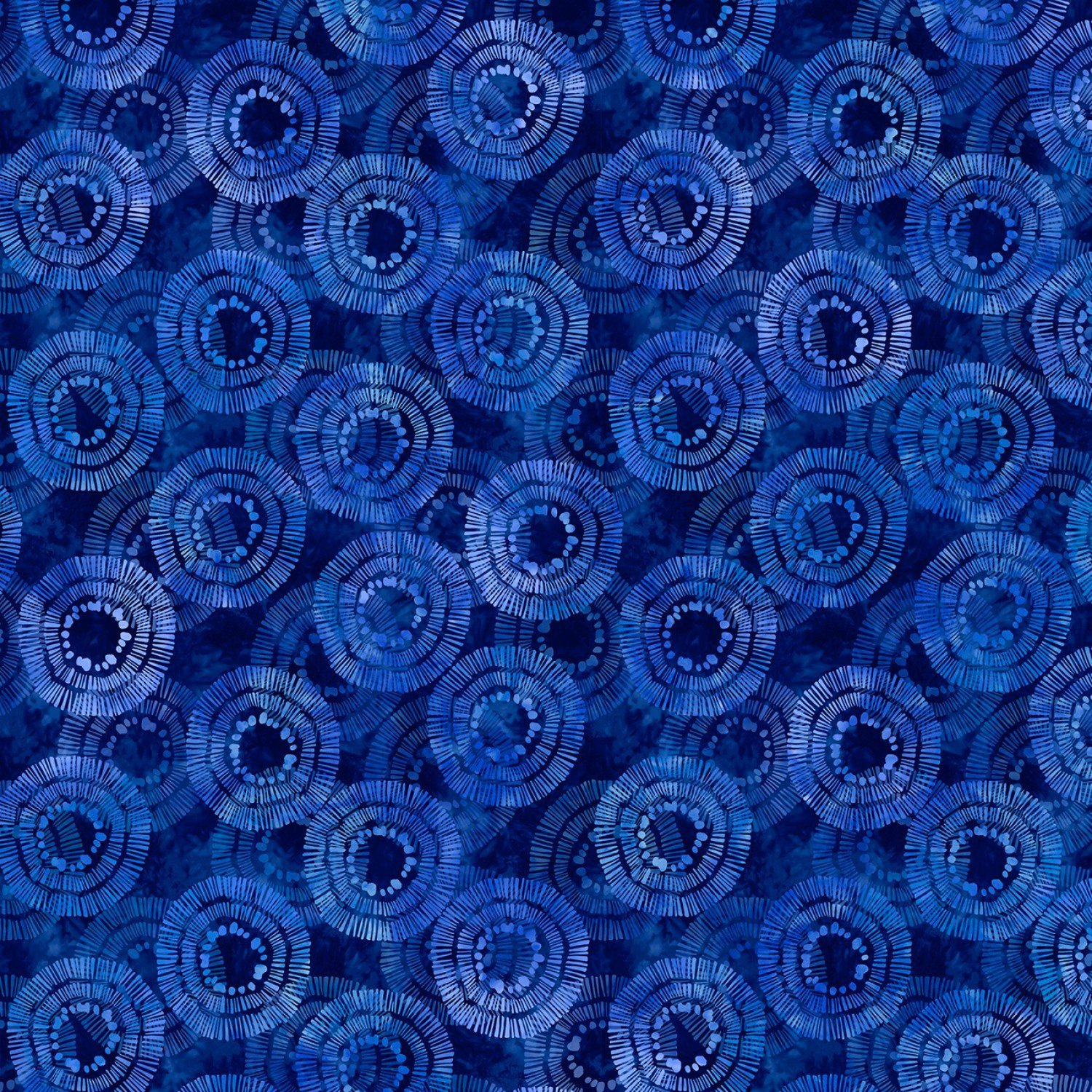 Blue Circle Burst 108' Wide Back by Wilmington Prints