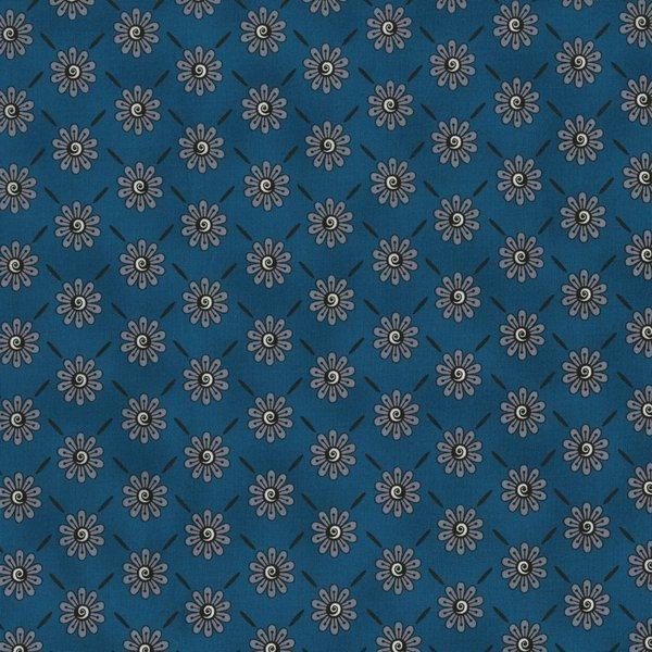 Ink Blossom II - Small grey flowers