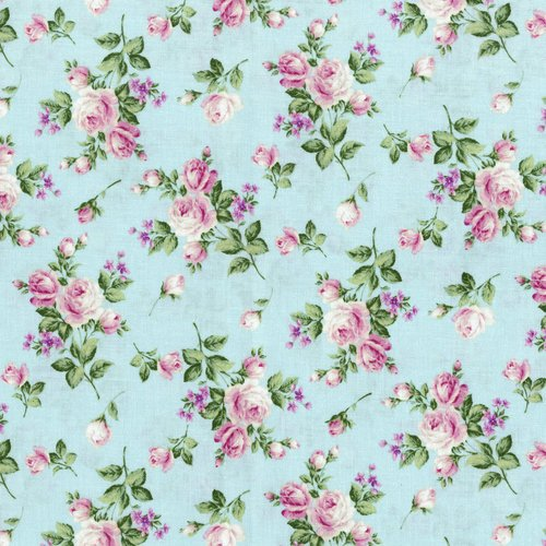 Afternoon in the Attic -HEIRLOOM FLORAL-SWEET PEA Flannel