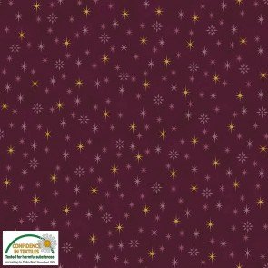 S-Sparkle Gold Stars on Maroon