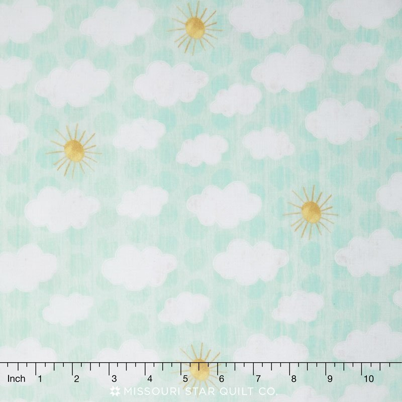 On the Road Again - Sky Teal Yardage