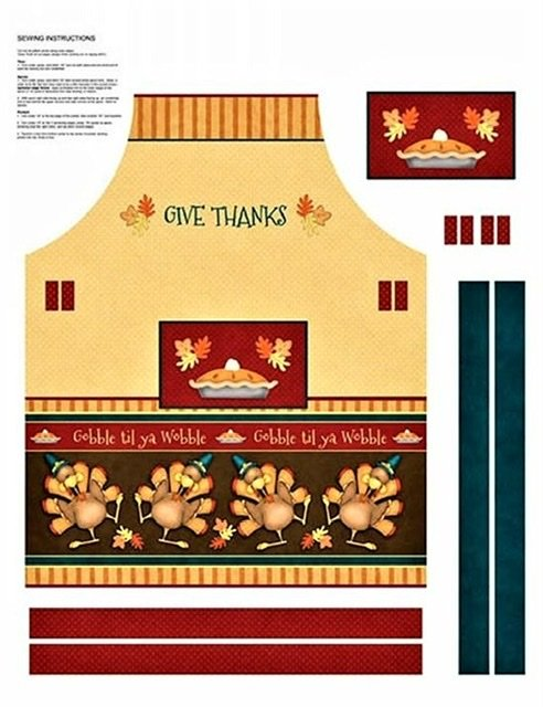 Give Thanks Turkey Apron