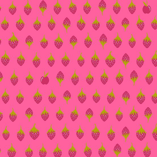 Road Trip By Alison Glass - Pink Strawberries