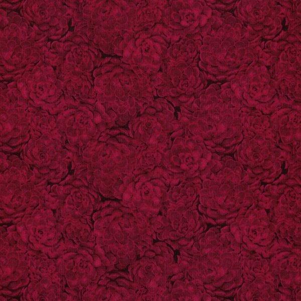 Jinny Beyer Palette - Hens & Chicks - Carmine Fabric