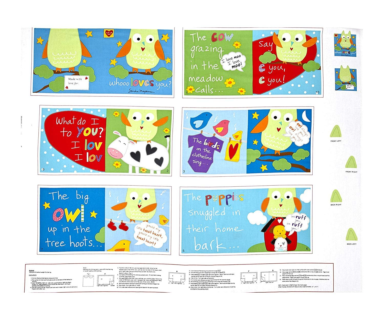 Whooo Loves You 36 Panel Book