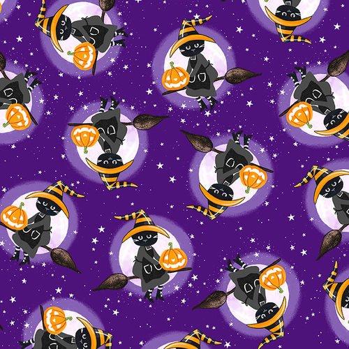 So Adora-Boo! - Cats on Purple