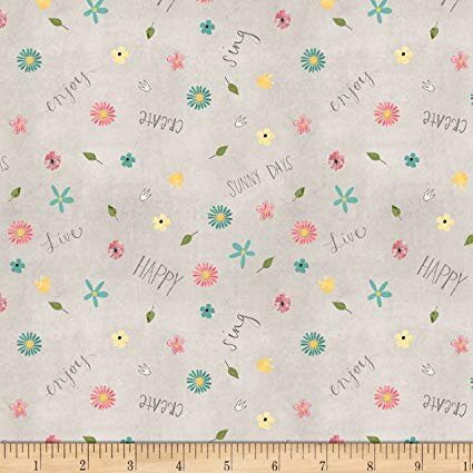 On The Road Again Small Floral Gray Fabric