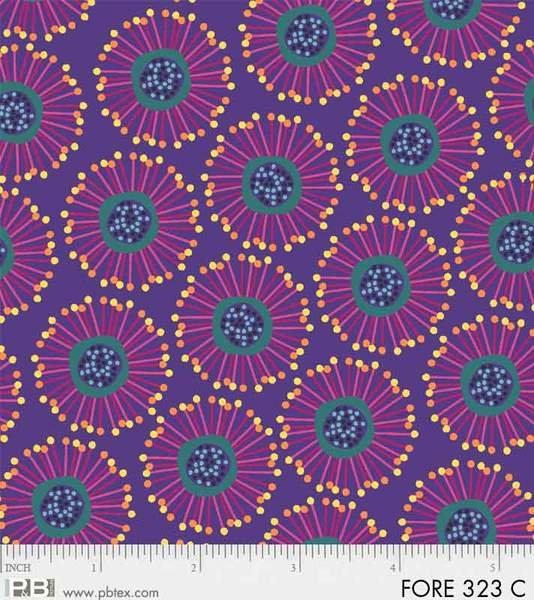 Forest Fancies Circle Flower - Purple