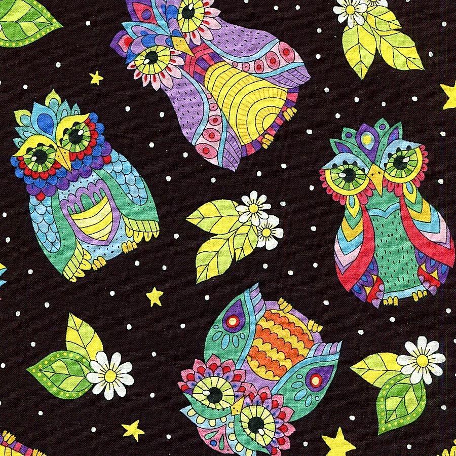 Night Bright Owls Black