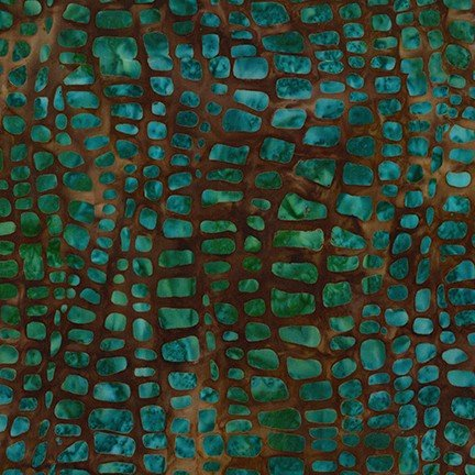 Tavarua 2 - Jungle - Green and Teal on Brown