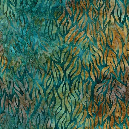 Tavarua 2 -Lagoon - Teals/Greens/Golds