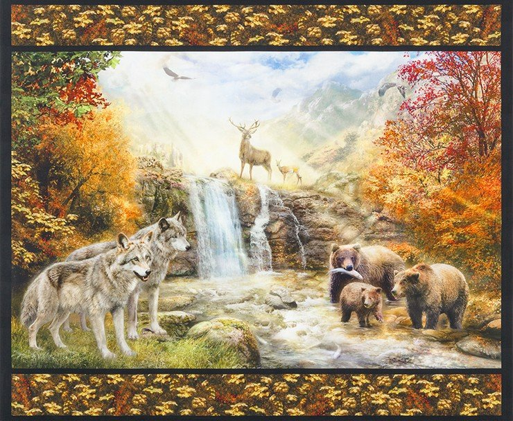Wolves, Deer, Bears Panel - Picture This - #17037