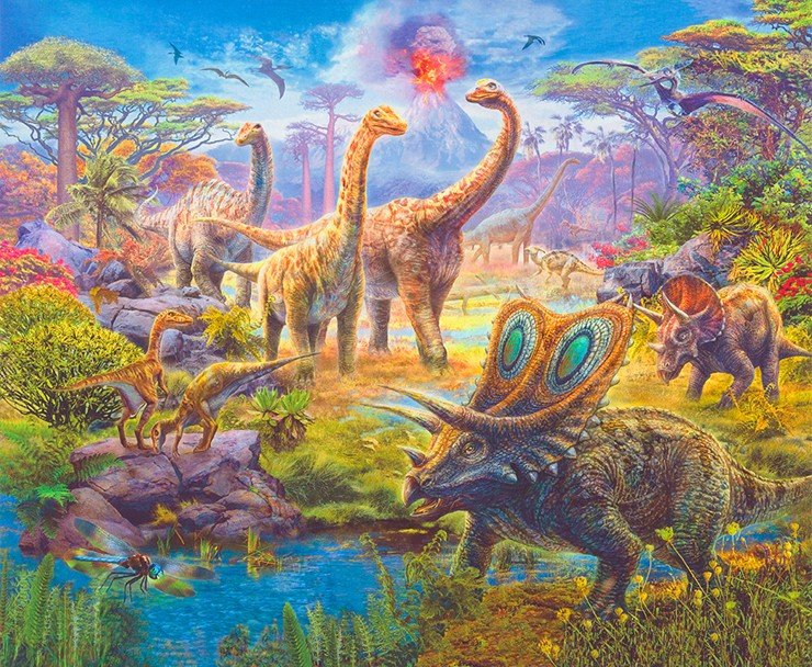 Dinosaurs Panel  - Picture This - Design #17038