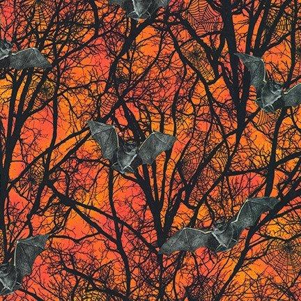 Raven Moon AWHD-19487-148 PUMPKIN by Robert Kaufman Fabrics