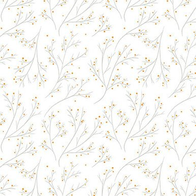 White Branches - Lower the Volume by Blank Quilting