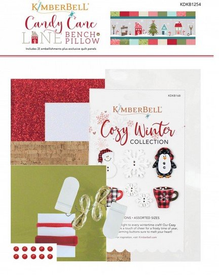 Candy Cane Lane - Embelishment pack for Kimberbell Bench Pillow