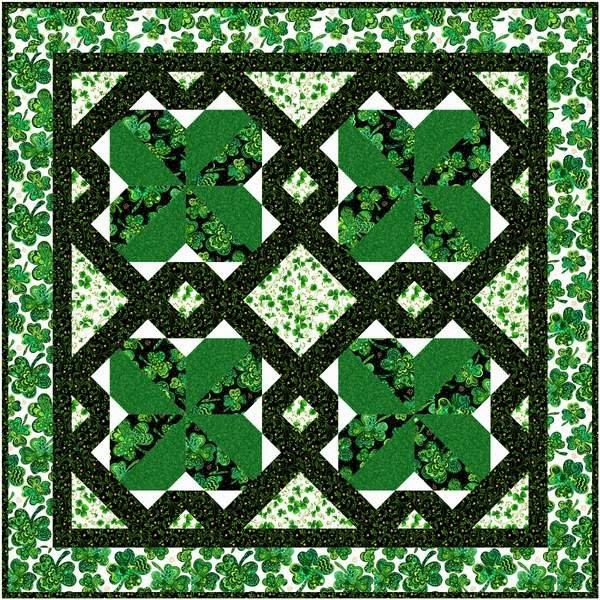 Four Leaf Clover Pattern by Bound To Be Quilting