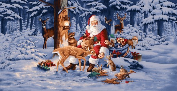 Good Tidings: Santa and Deer
