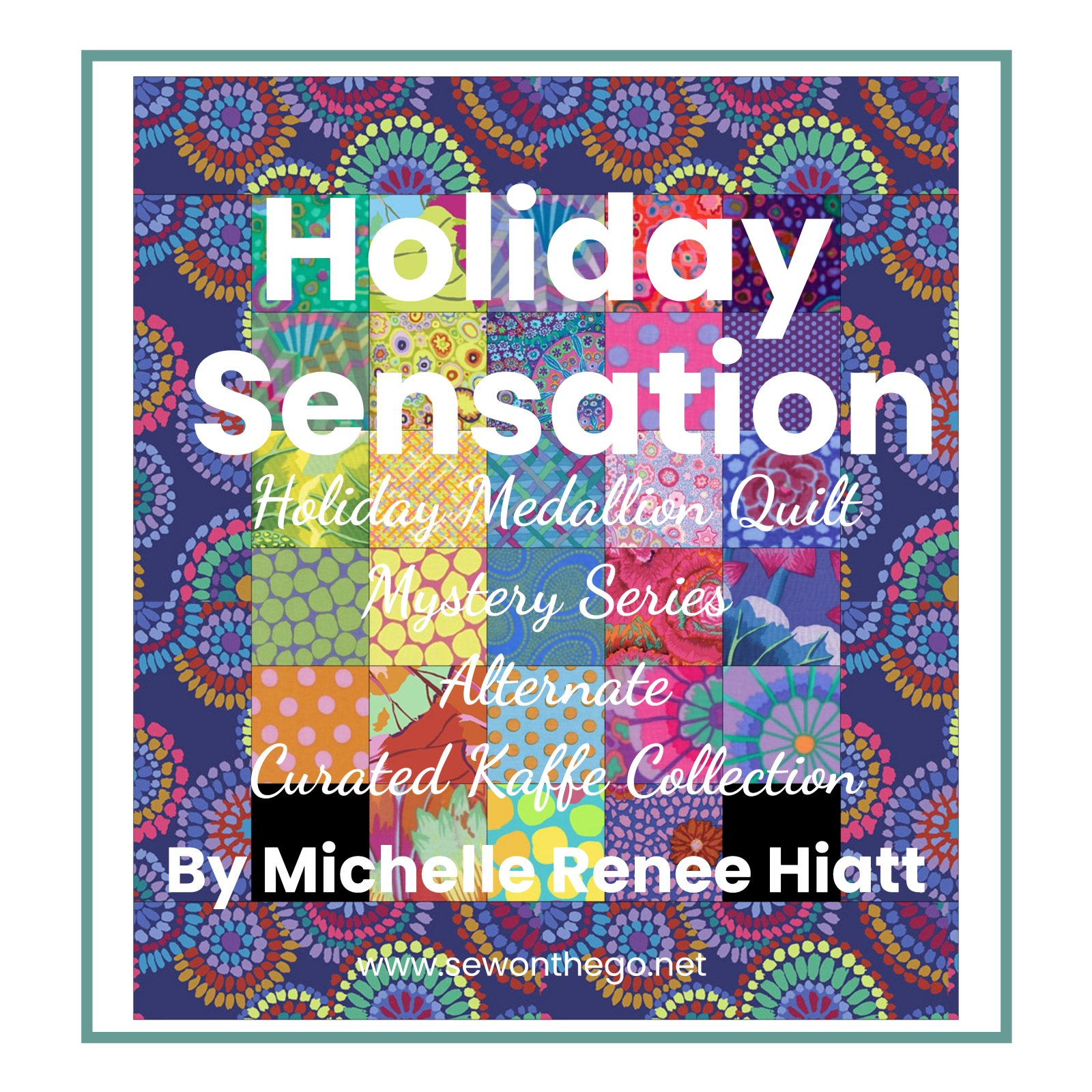 Holiday Sensation Mystery Quilt - Alternate Curated Kaffe Collection by Michelle Fat Quarter Bundle ONLY