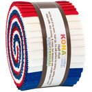 Patriotic Palette - Kona Cotton (24) 2 1/2 Strip roll