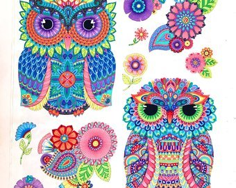 Night Bright Owl Panel