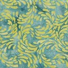 Island Batik blue with lime green swirls 121514101