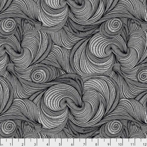Stone Flip - Black by BiGeo for Free Spirt Fabrics
