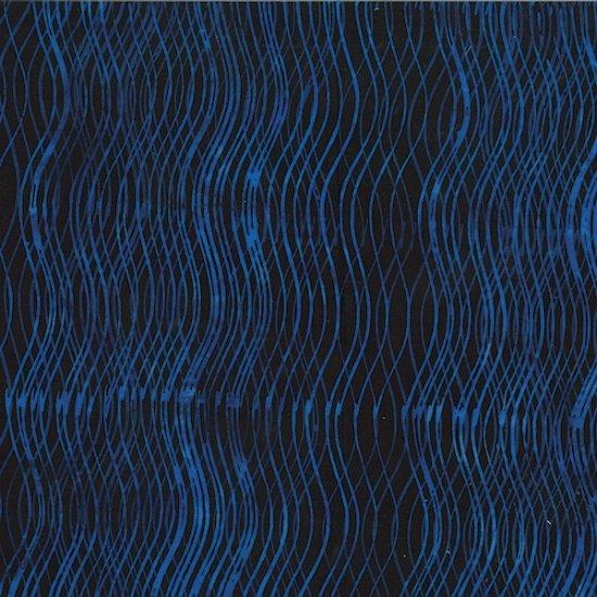 Bali Batiks - Wavy Lines Cobalt