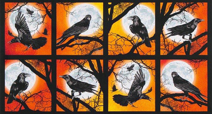 Raven Moon AWHD-18484-148 PUMPKIN by Robert Kaufman Fabrics