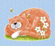 Purrl the Cat Panel - Design #SB20249