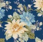 Fancy Flannel  - Yellow flowers on blue