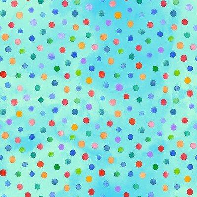 Loca Linda B-9401/11 teal w/multi dots