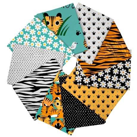 Tiger Tails 10 Fat Quarter Pack by QT Fabrics