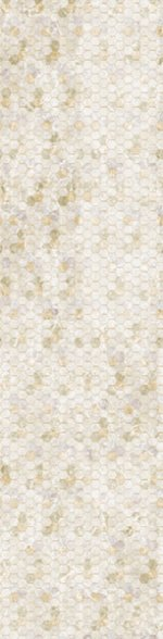 Natural Hexagon Ombre- Backsplash 2.0 - Digital Print by Hoffman California Fabrics