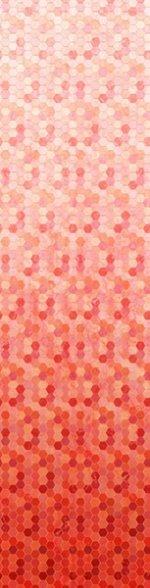 Coral Hexagon Ombre- Backsplash 2.0 - Digital Print by Hoffman California Fabrics